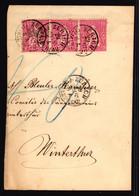 38 Mehrfachfrankatur Auf Briefteil Gelaufen Von Zürich Nach Winterthur - Briefe U. Dokumente