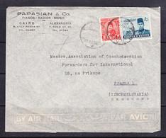 SK 21-81 LETTER FROM EGIPTE TO PRAHA. SEND PAPASIAN & CO. PIANOS, RADIOS, MUSIC. - Armenia