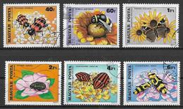 UNGHERIA 1980 IMPOLLINIZZAZIONE DEI FIORI YVERT. 2703-2708 USATA VF - Used Stamps