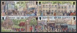 Alderney 1998 Historische Entwicklung Von Alderney 121/28 ZD Postfrisch - Alderney