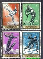 Guinea 1964 Mi 235-238 MNH ( ZS5 GUR235-238 ) - Winter 1964: Innsbruck