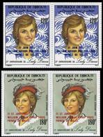 DJIBOUTI 1982 Diana OVPT:Baby PERF.PAIRS:2 - Djibouti (1977-...)