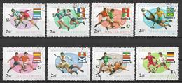 UNGHERIA 1978 ARGENTINA 78 CAMPIONATO MONDIALE DI CALCIO YVERT. 2601-2608 USATA VF - Used Stamps