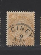 COB 62 Sans Bandelette Oblitération Centrale CINEY - 1893-1900 Thin Beard