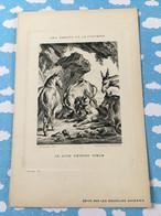 Les Fables De La Fontaine Par Oudry Les Nouvelles Galerie Le Lion Devenu Vieux - Sonstige