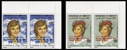 DJIBOUTI 1982 Diana OVPT:Baby PERF.CORNER PAIRS:2 - Djibouti (1977-...)