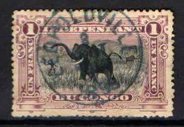 CONGO BELGA - 1894 - CACCIA ALL'ELEFANTE - USATO - Congo Belge