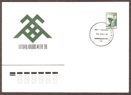 "Cover ""New Calendar Postmark Of Lithuania 1990.08.16"" - Lithuania"