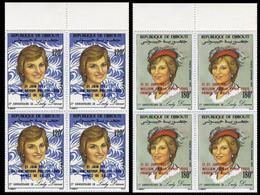DJIBOUTI 1982 Diana OVPT:Baby PERF.MARG.4-BLOCKS:2 - Djibouti (1977-...)