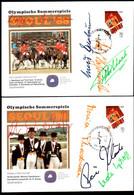 Korea,South 1988 Horses+signatures, 2 FDC - Korea, South