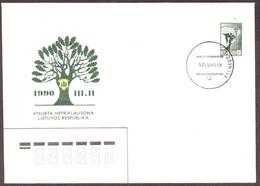 "Cover ""New Calendar Postmark Of Lithuania 1990.05.17"" - Lithuania"