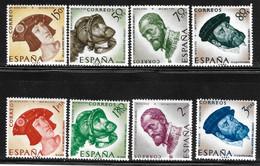 ESPAÑA Año 1958 - IV CENTENARIO DE LA MUERTE DE CARLOS I DE ESPAÑA Y V DE ALEMANIA - SET COMPLETO - 1951-60 Gebraucht