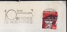 Switzerland Geneva 1978 / 10 Eme Anniversaire Freres De Nos Freres, 10th Ann Brothers Of Our Brothers / Machine Stamp - Svizzera
