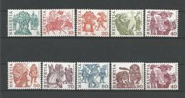 Switzerland 1977 Definitives  Y.T. 1033/1041+1037a ** - Svizzera