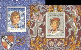 DJIBOUTI 1982. Diana's OVPT:Baby IMPERF.sheetlets:2 - Djibouti (1977-...)