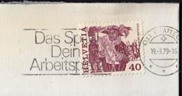 Switzerland Pratteln 1979 / Das Spital - Dein Arbeitsplatz, The Hospital Your Workplace Health Medicine / Machine Stamp - Health