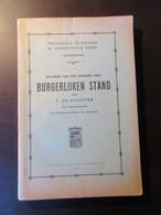 Syllabus Van Den Leergang Over Burgerlijken Stand - Cursus Over De Burgerlijke Stand - Genealogie - Geschiedenis