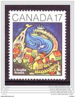 Canada, 1981, #898, Acadie, Coq, Girouette, Oiseau, Bateau, église, Rooster, Boat, Church - Barche