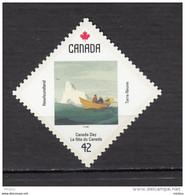 Canada, 1992, #1431, Bateau, Chaloupe, Boat, Iceberg, Polaire, Polar, Art, Peinture, Painting - Barche