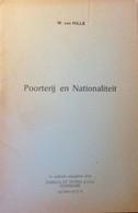 Poorterij En Nationaliteit -  Door W. Van Hille   -  Genealogie  - 1969 - Geschiedenis