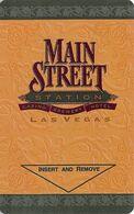 Main Street Station Casino - Las Vegas, NV - Hotel Room Key Card - Chiavi Elettroniche Di Alberghi