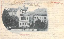 LUXEMBOURG  : Denkmal WILHEM II - CPA Précurseur Postée 1904 - - Luxemburg - Town