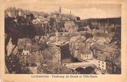 LUXEMBOURG  :  Faubourg Du Grund Et Ville Haute - CPSM Sépia Postée 1923 - - Luxemburg - Town