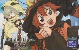 Carte Prépayée JAPON - SEGA - MANGA - SHINING FORCE - ANIME JAPAN Prepaid Tosho Card - BD COMICS Karte - NFS 12346 - Comics