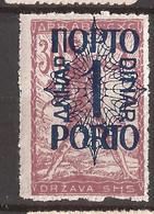 YU-SLOV-SHS 2  1920  48 I  PORTO    JUGOSLAVIA JUGOSLAWIEN  SHS SLOVENIA VERIGARI    HINGED - Slovenië