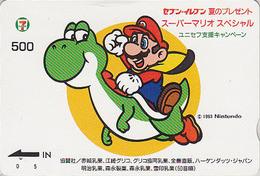 Carte Prépayée JAPON  - NINTENDO - SUPER MARIO - Jeu Video Game JAPAN Prepaid QUO 7/11 Card - 12347 - Comics