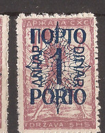 YU-SLOV-SHS 2  1920  48 I  PORTO    JUGOSLAVIA JUGOSLAWIEN  SHS SLOVENIA VERIGARI    HINGED - Slovenia