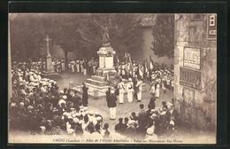 CPA Amou, Fete De L'Etoile Amolloise, Salut Au Monument Des Morts - Non Classificati