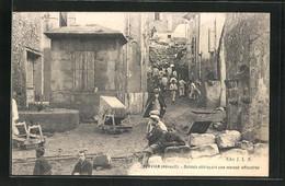 CPA Servian, Soldats Déblayant Une Maison Effrondée - Non Classés