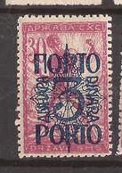 YU-SLOV-SHS 2  1920  49 I  PORTO    JUGOSLAVIA JUGOSLAWIEN  SHS SLOVENIA VERIGARI    HINGED - Slovenië