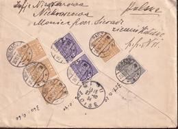POLAND 1934 Sieradz Registered To France Cover - 1919-1939 Republic