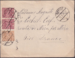 POLAND 1934 Sieradz To France Cover New Rate - 1919-1939 Republic