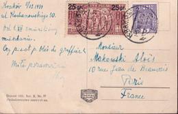 POLAND 1934 Krakow To France Postcard - 1919-1939 Republic