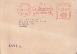 POLAND 1938 Postcard Printed Matter Radio Advert - 1919-1939 Republic