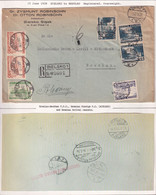 POLAND 1938 Registered Cover Currency Control Handstamp Railway Cancel - 1919-1939 Republic