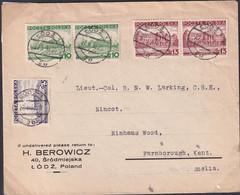 POLAND 1937 Cover To Lieut-Col Larking Lodz To UK - 1919-1939 Republic