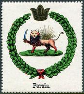 Persia Iran Vignette ** MNH Coat Of Arms Armoiries Blason Wappen Poster Stamp Cinderella Reklamemarke Persien Perse - Iran