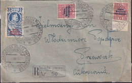 POLAND 1937 Registered Cover Pilsudski Commem Cancel - 1919-1939 Republic