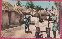ANGOLA, Aldeia Indigena, Native Black Women, Photo Postcard - Angola
