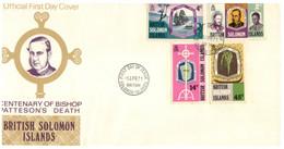 (P 15) British Solomon Island (1971) FDC Cover / Premier Jour (Bishop Patteson) - Salomoninseln (Salomonen 1978-...)