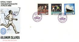 (P 15) British Solomon Island (1978) FDC Cover / Premier Jour (Royal Visit - Commonwealth Games) - Salomoninseln (Salomonen 1978-...)