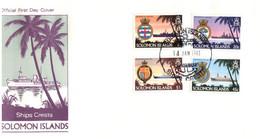 (P 15) Solomon Island (1981) FDC Cover / Premier Jour - Ships Crests - Salomoninseln (Salomonen 1978-...)