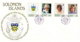 (P 15) Solomon Island (1982) FDC Cover / Premier Jour - Princess Of Wales - Salomoninseln (Salomonen 1978-...)
