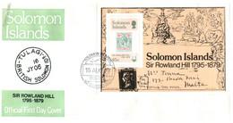 (P 15) Solomon Island (1979) FDC Cover / Premier Jour -Sir Rowland Hill - Salomoninseln (Salomonen 1978-...)