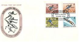 (P 15) Solomon Island (1979) FDC Cover / Premier Jour - Pacific Games - Salomoninseln (Salomonen 1978-...)