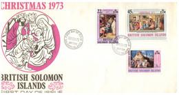 (P 15) British Solomon Island (1973) FDC Cover / Premier Jour - Christmas - Salomoninseln (Salomonen 1978-...)